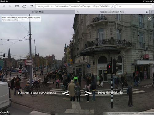 Street View Toegevoegd Aan Google Maps Webapplicatie
