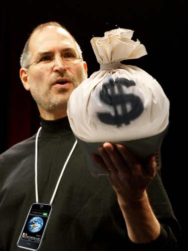 Steve Jobs geeft gratis iPhone weg aan Apple-medewerkers
