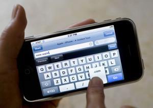 Toetsenbord op de Apple iPhone