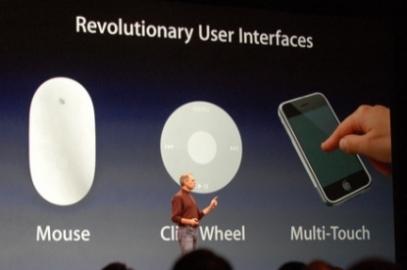 Het touchscreen van de eerste iPhone was iets heel nieuws.