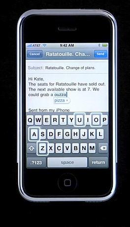 iPhone toetsenbord - voorspelling