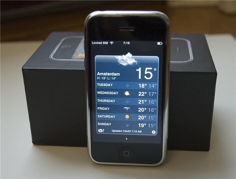 iPhone 2007 review: weerbericht