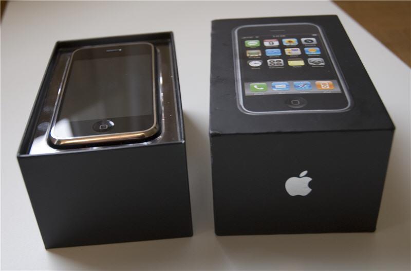 Verpakking van de iPhone 2007