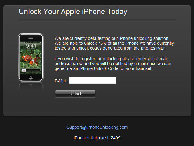 iPhone simlock unlocking