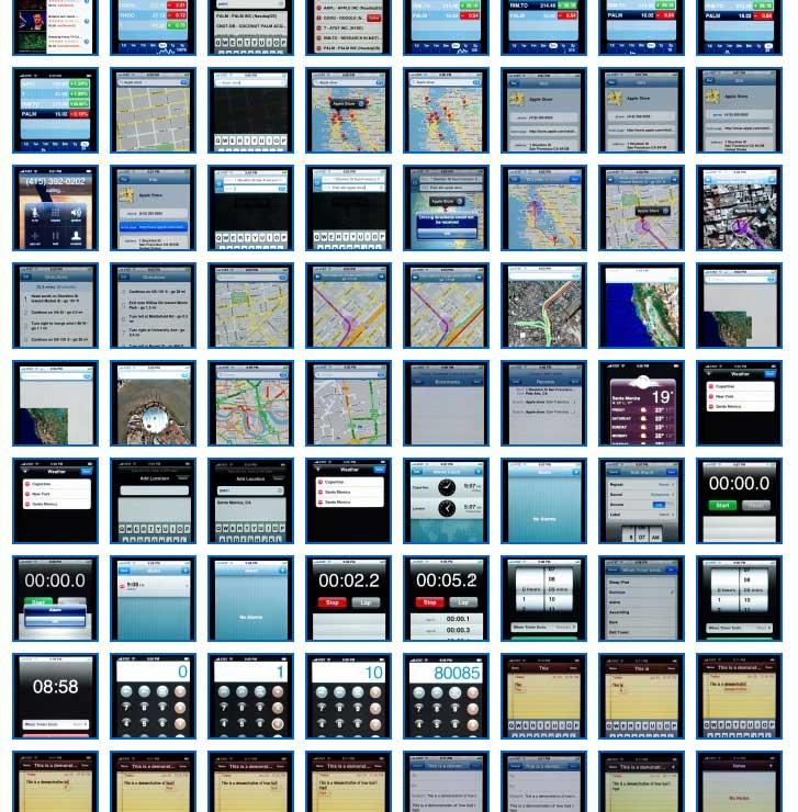Alle screenshots van de Apple iPone