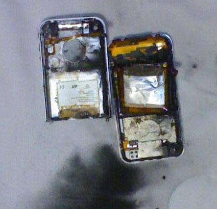 Geexplodeerde iPhone na unlockpoging