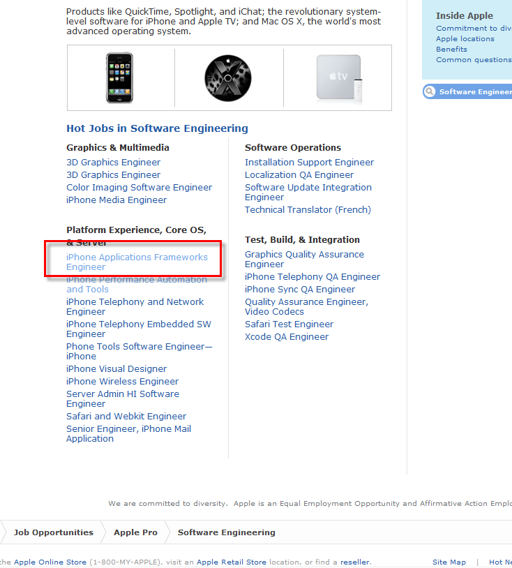Apple zoekt personeel voor ontwikkeling 3rd party software