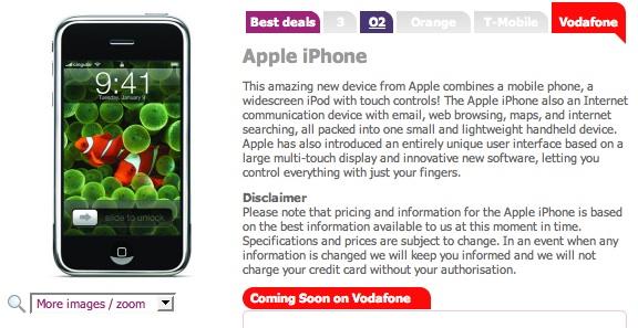 iPhone in Engeland ook bij Vodafone