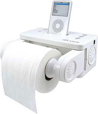 iPod toilet roll