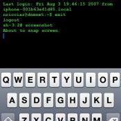 Terminal application voor iPhone