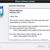 iPhone Software Update 1.01