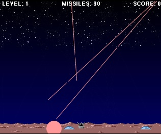 Missile Command voor iPhone