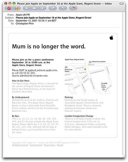 Apple persuitnodiging voor Europese lancering Apple iPhone?
