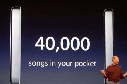 De Apple iPod Classic 160GB kan ruim 40.000 nummers aan.