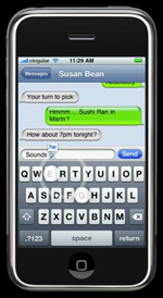 SMS op iPhone