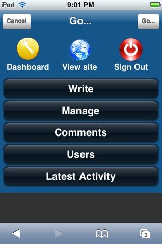 WPhone, WordPress plugin voor de iPhone