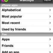 Wakoopa op iPhone
