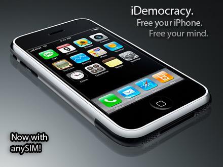 iDemocracy 1.1.1,v1.1 nu ook in staat tot AnySIM unlock
