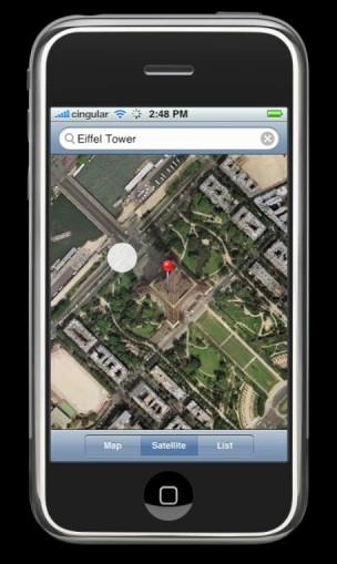 Google Maps op mobiel
