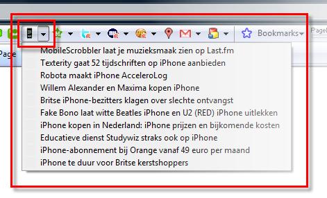 iPhoneclub Google Toolbar