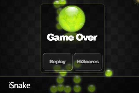 iSnake Game Over