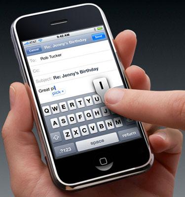 Apple iPhone keyboard