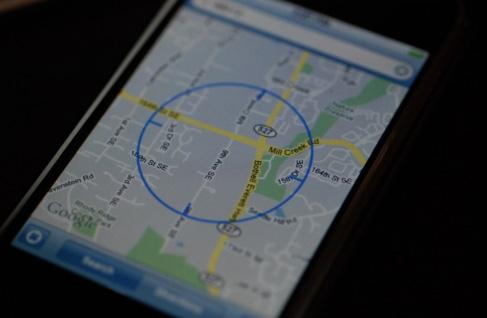 iPhone 1.1.3 - Locatiebepaling in Google Maps aan hand van gsm-radiomasten