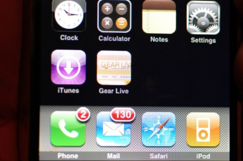 iPhone 1.1.3 - Nieuw toegevoegd webicoon op Home-scherm