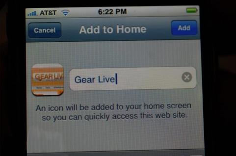 iPhone 1.1.3 - Webiconen aan Home-scherm toevoegen
