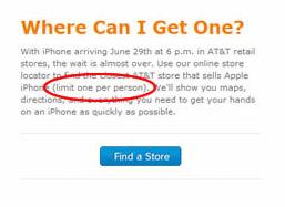 iPhone Limit