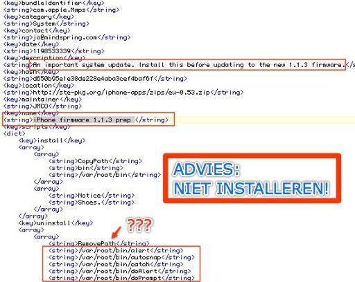 Fake repository JMwiki met de verdachte commando's