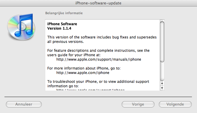 iPhone firmware 1.1.4