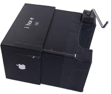 iHole, iPhone-verpakking wordt camera obscura