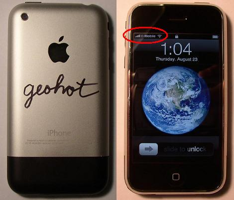 Geohot's allereerste hardware-unlocked iPhone
