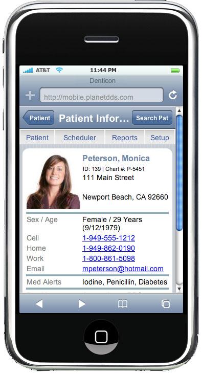iPhone denticon patient