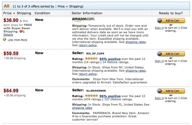 iPhone Open Application Development, uitverkocht op Amazon