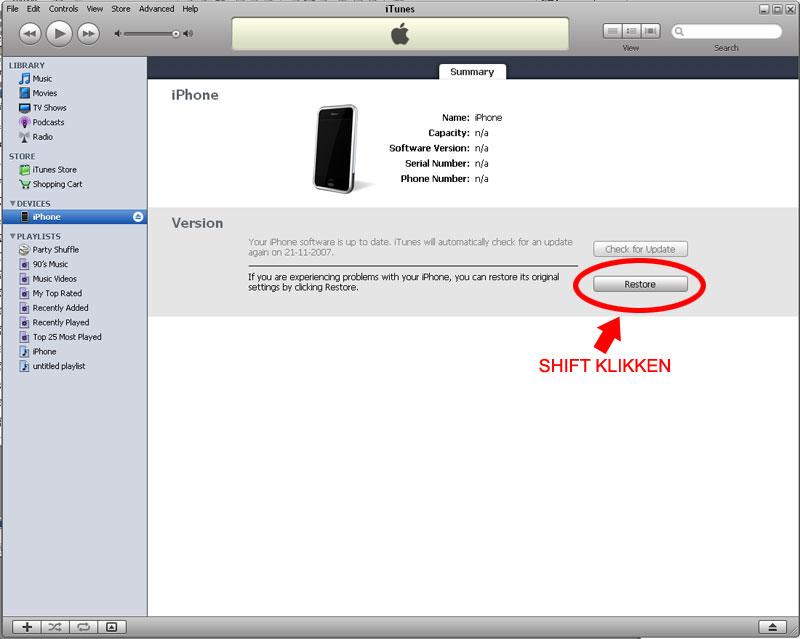 EHBO voor iPhone firmware 1.1.4 updates