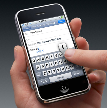 iPhone email opslaan als draft
