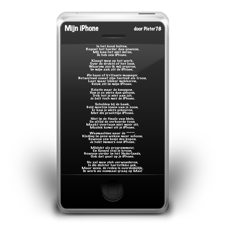 iPhone Poem (Dutch)