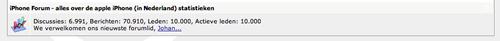 iPhoneclub - 10.000 geregistreerde forumgebruikers