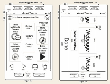 Apple patent iPhone interface