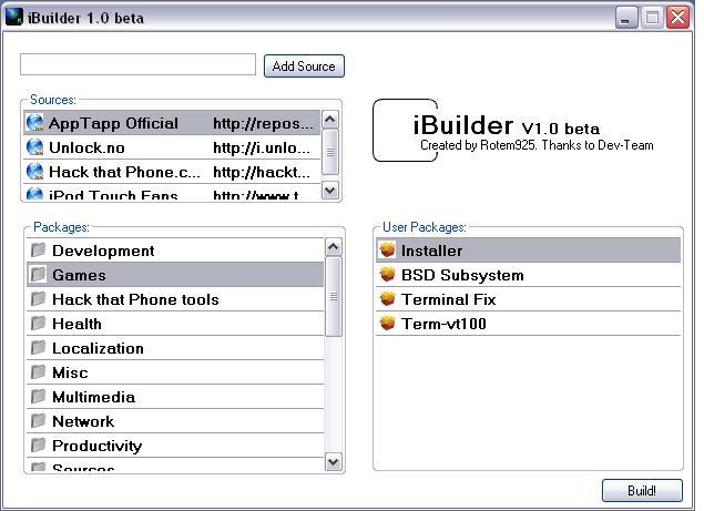 iBuilder, maak eigen bundels