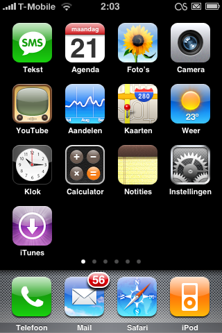 iPhone in Nederlandse taal