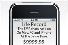 Life Record Medische Software op iPhone