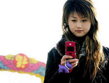 Chinese mobiele telefoon gebruiker