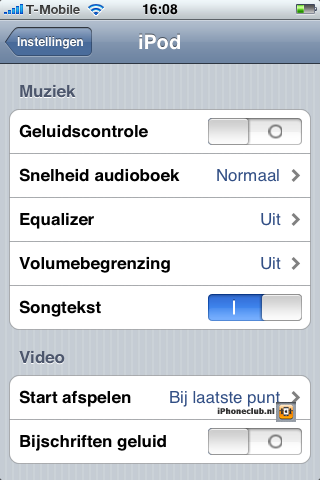 iPhone 2.0 - iPod songteksten