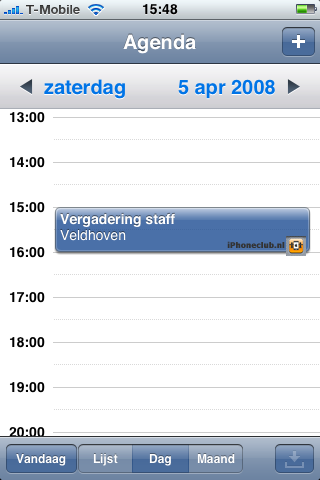 iPhone 2.0 - Agenda: onbekende knop