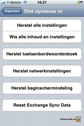 iPhone 2.0 - Reset Exchange Sync data