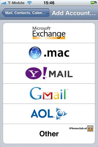 iPhone 2.0 - Microsoft Exchange