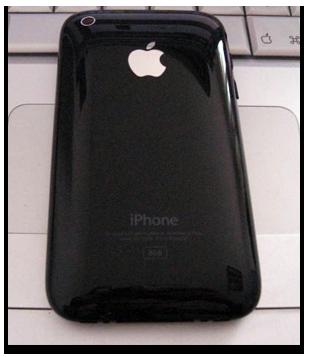 iPhone zwart glossy